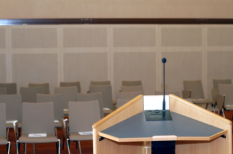 Conference room and podium