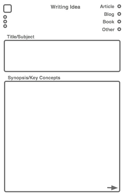 hPDA Template: Writing Ideas